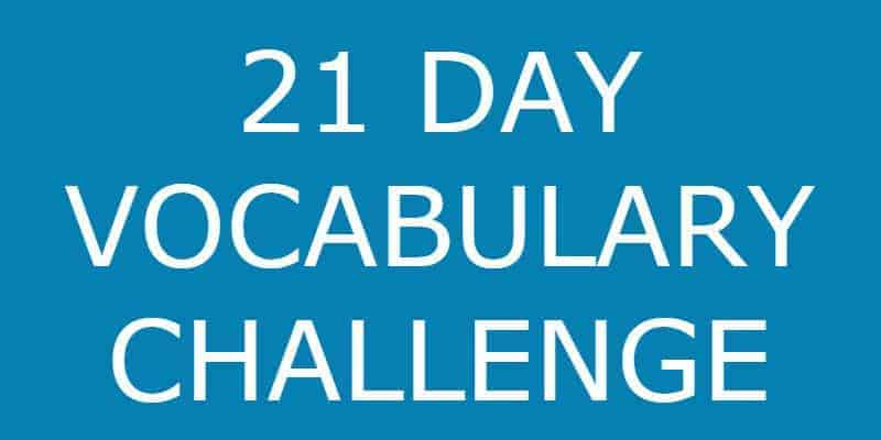 21 Day Vocabulary Challenge